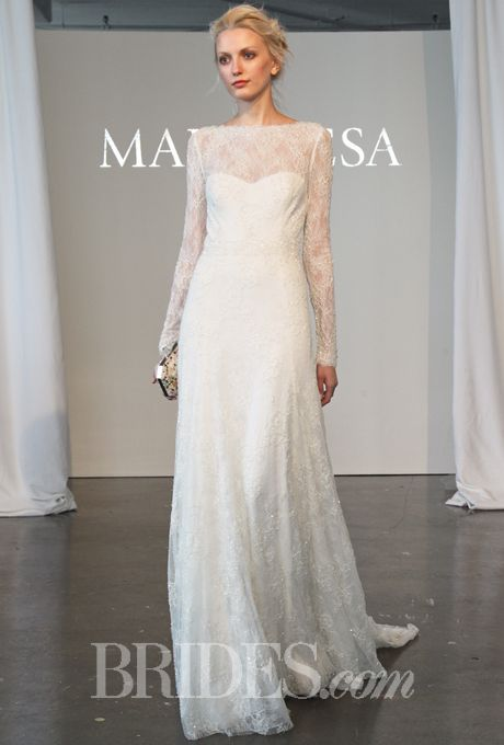 Marchesa Spring 2015 Long Sleeve Wedding Gowns Wedding