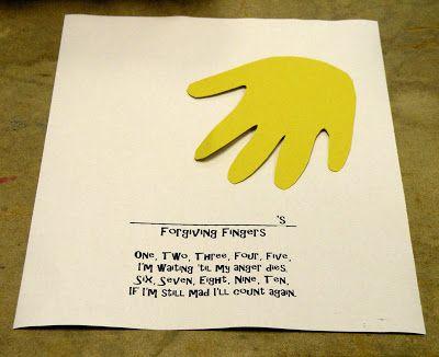 Forgiving Fingers Forgiveness Craft For Kids Tuesday Forgiving