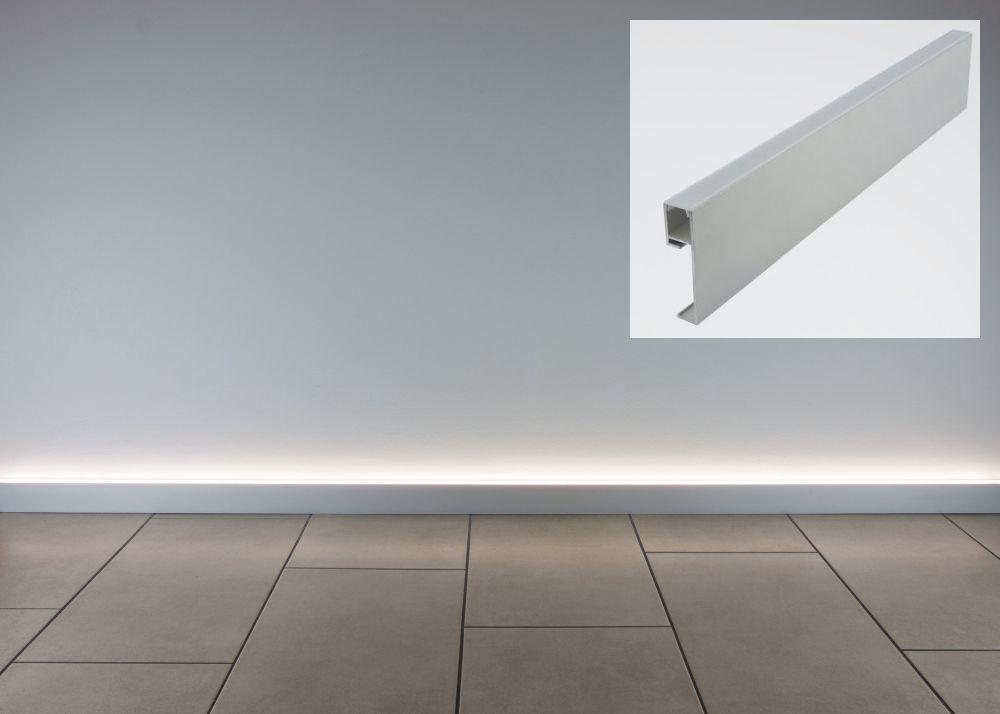 Fliesenschiene24 Led Sockelleiste Alu 250cm Sockelleisten Terrassenbeleuchtung Moderne Sockelleisten