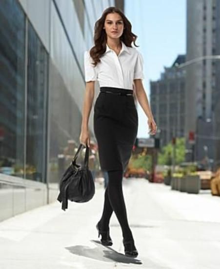 Ways To Wear A Pencil Skirt | Workwear | Pinterest | Stockings ...