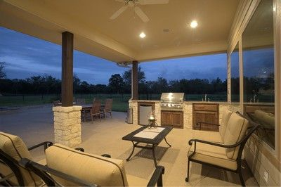 Barndominium porch with outdoor kitchen  Future Dream