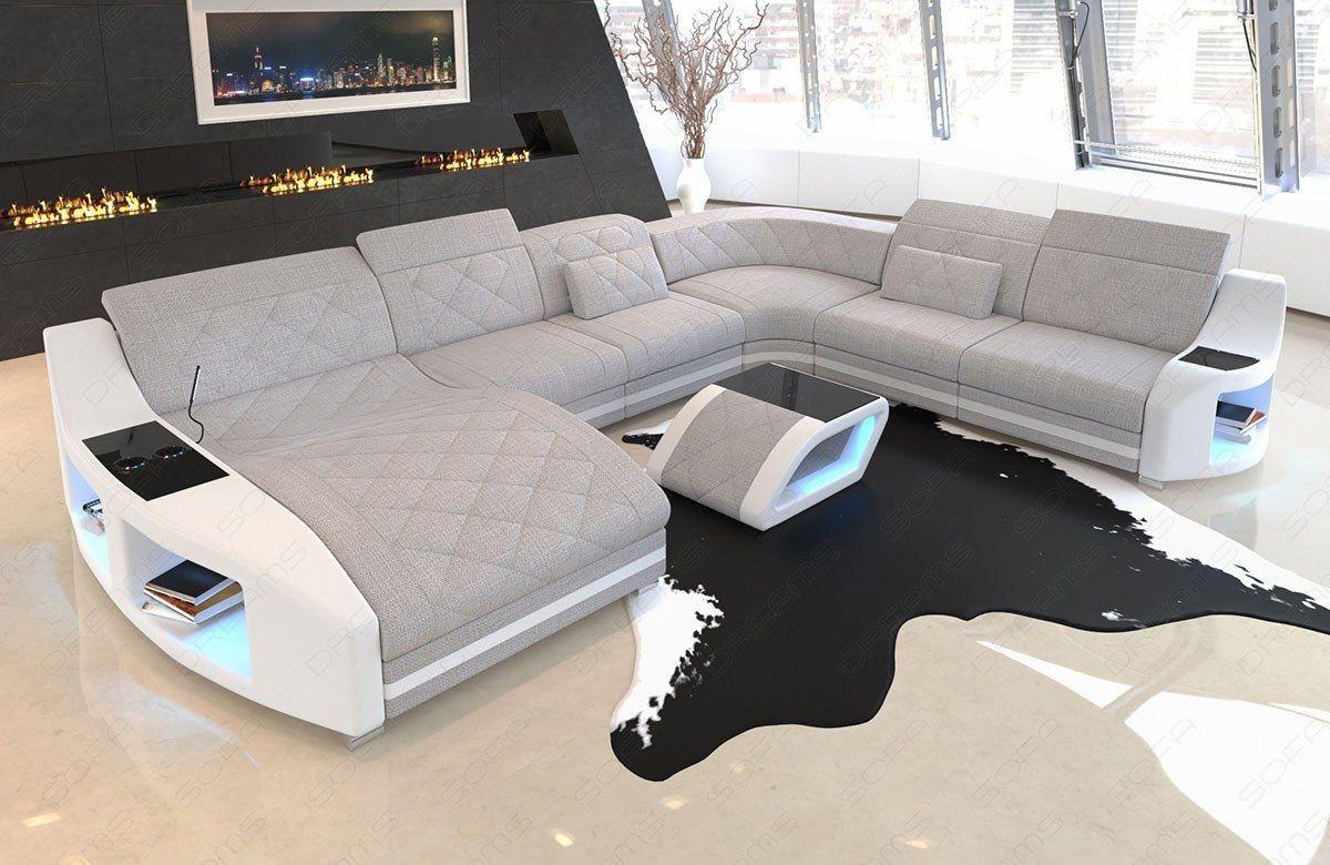 Xxl Wohnlandschaft Swing Als Polstersofa Mit Beleuchtung Und Usb Sofa Design Wohnen Mobel Sofa