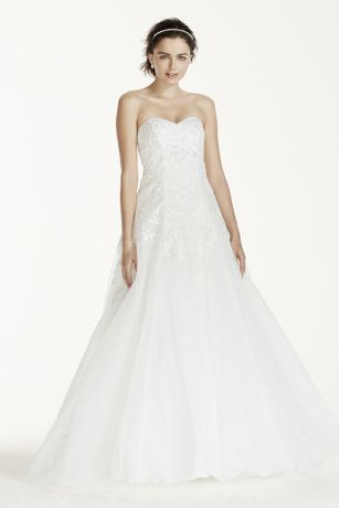 This dress is at Davids Bridal, I think it would be worth it to try it on. :) What do you think? Is it too simple?