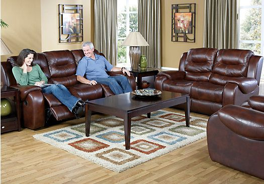 shop for a verano dark burgundy 5 pc blended leather reclining livingroom at rooms to go find living room sets that will look great in your home and