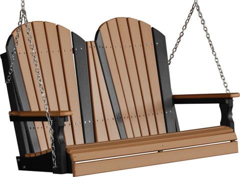 LuxCraft Adirondack Poly Porch Swing 4 Foot in 2020