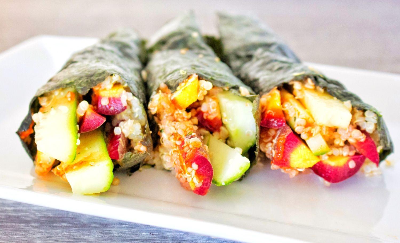 Vegetable Quinoa Sriracha Handrolls — Kale Me Maybe