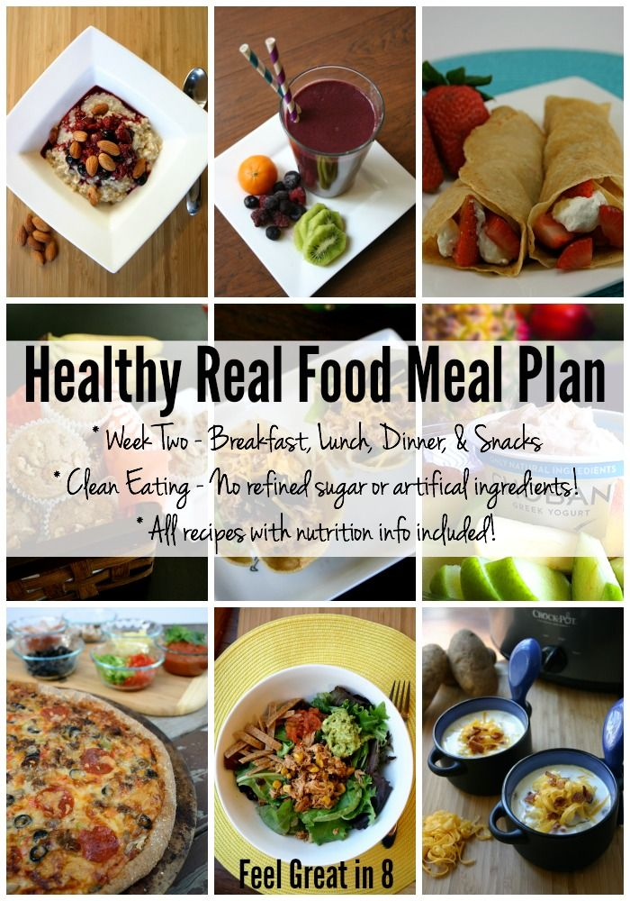 Healthy real food meal plan week two real food recipes healthy real food meal plan one week of breakfast lunch dinner forumfinder Images