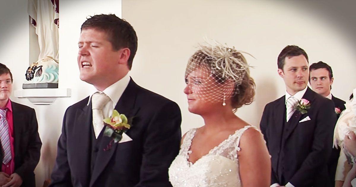 Groom Sings Beautiful Song As Bride Walks Down The Aisle
