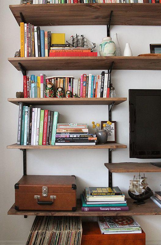 Diy Mounted Shelving Unit Bookshelves Diy Diy Bookshelf Plans