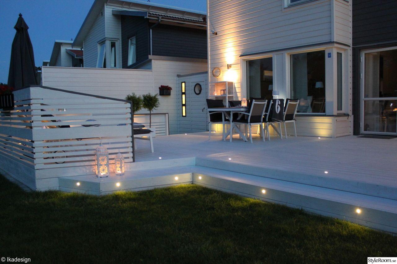 hus,altan,trädgård,belysning