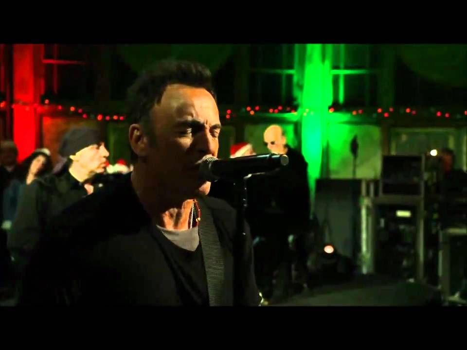 And What Would Christmas Be Without A Song From Bruce Springsteen Here Is His Rendition Of Blue Chris Bruce Springsteen Christmas Music Videos Christmas Song