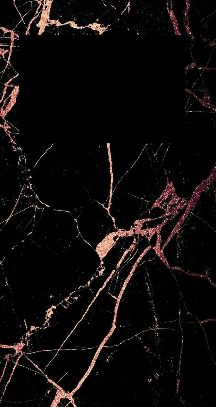 Black And Rose Gold Marble Gold Wallpaper Iphone Rose Gold