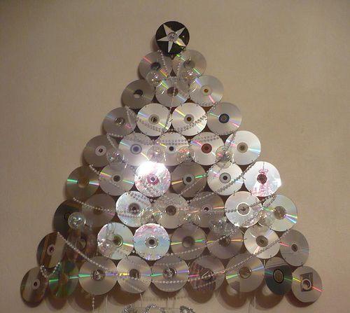 Résultats de recherche d'images pour «arbre de noel avec cd»