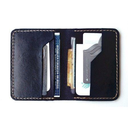 559f05bdb Carteira de Couro Masculina Slim | cuero artesano | Wallet y Leather
