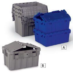 Akro Mils Attached Lid Totes Gray By Akro Mils 40 80 Padlock Eyes On Both Ends For Maximum Container Security Home Hardware Outdoor Storage Box Home