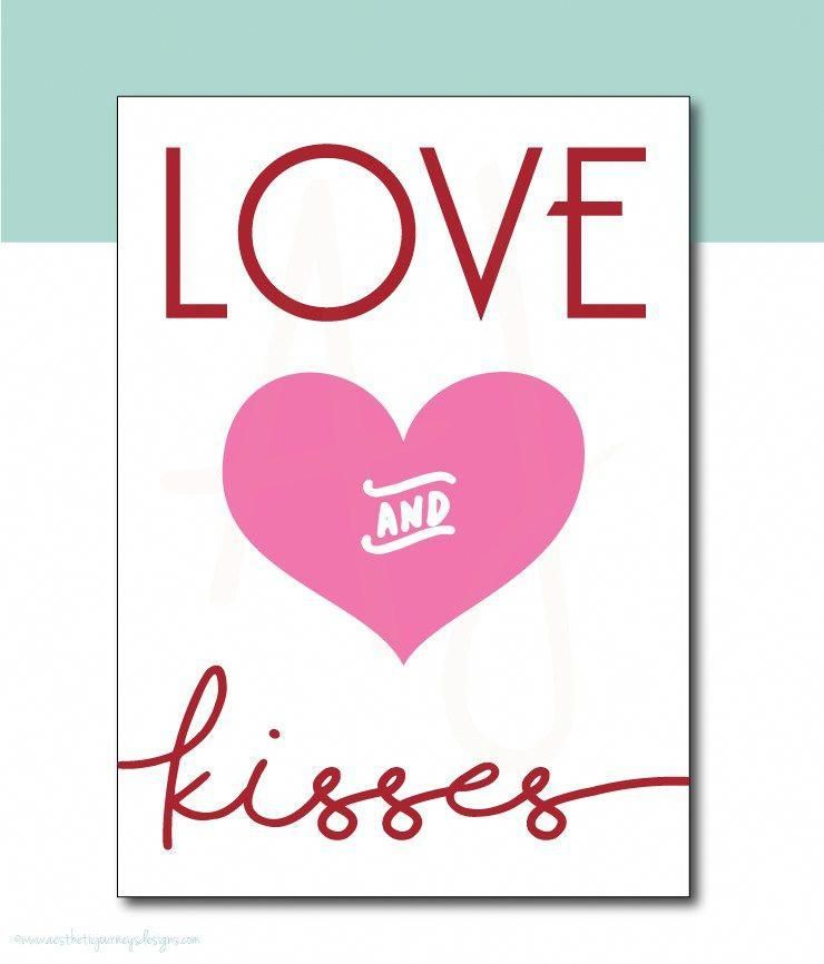 Love and Kisses Printable Sign or Card. Celebrate the holidays with these great ...  Love and Kisses Printable Sign or Card. Celebrate the holidays with these great party items. Shop m #Card #Celebrate #Great #holidays #Kisses #love #Printable #Sign