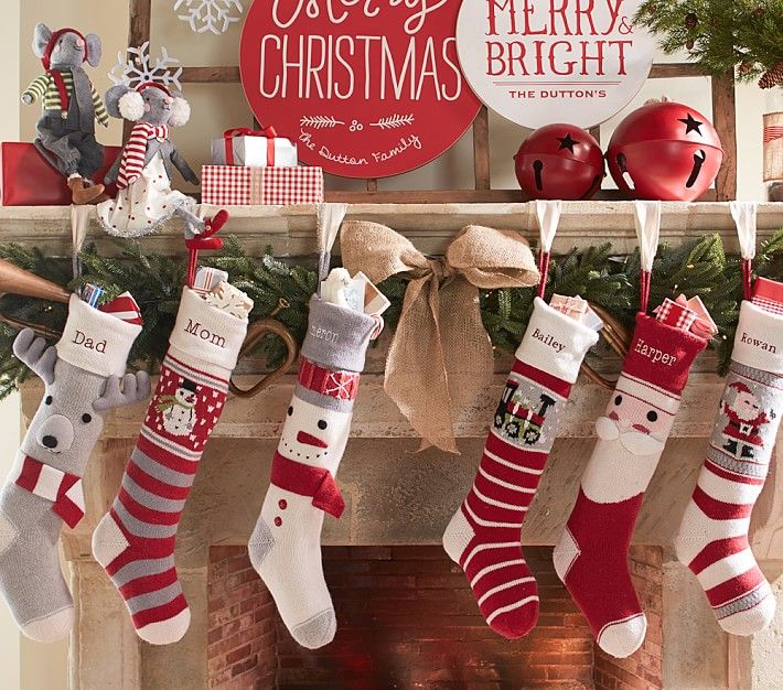 Red Dot Natural Fair Isle Stocking | Pottery Barn Kids | PARTIES ...