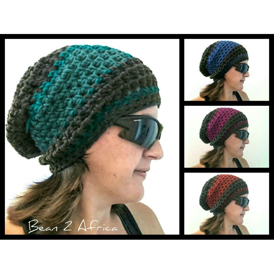 BOHO SLOUCHY BEANIE Hand Made to Order from Cape Town South Africa by  SarahMichaelStore on Etsy 5da39be2d17