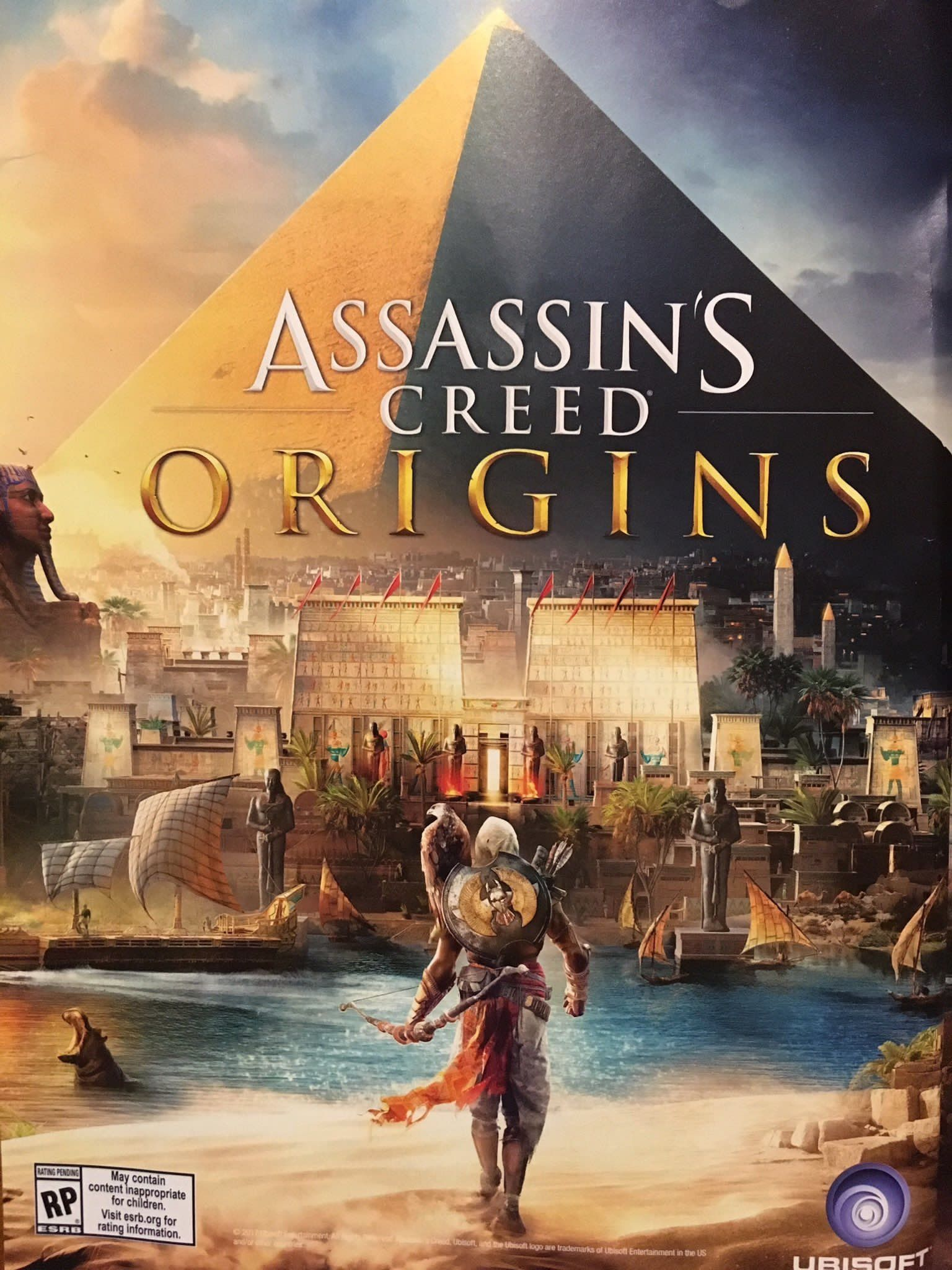 Assassin S Creed Origins Cover Art Assassins Creed Game
