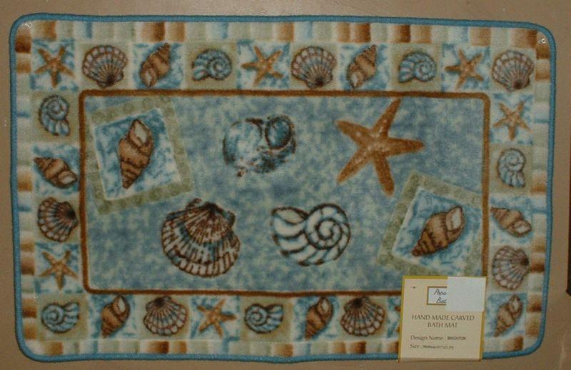 Sea Shell Bathroom Toilet Seat Cover Decor Rug Seashell