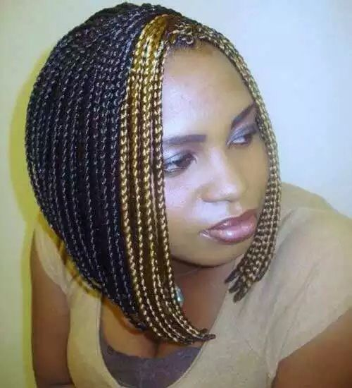 Bob Box Braids With Colour Bob Braids Hairstyles Box Braids Hairstyles For Black Women Short Box Braids Hairstyles