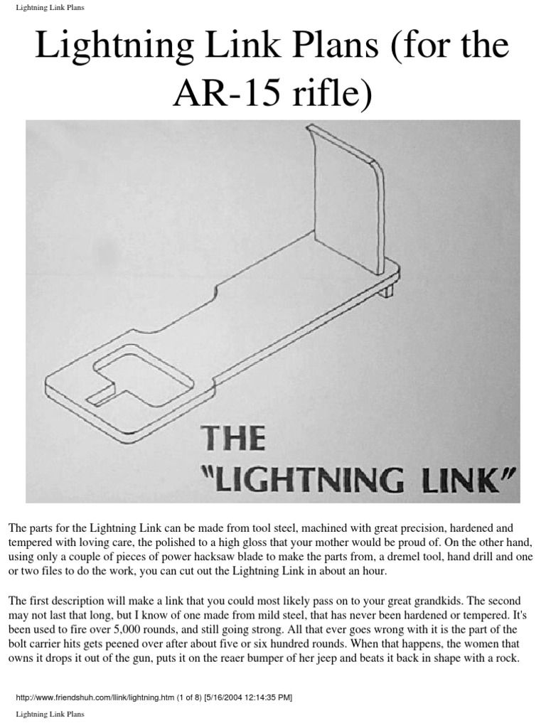 hight resolution of 3853405 ar15 lightning link plans 1 free download as pdf file pdf text file txt or read online for free
