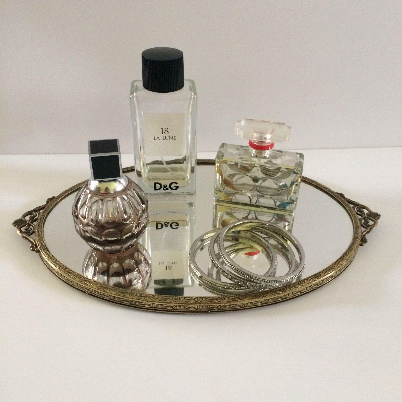 Dresser mirror vanity mirror oval perfume tray dresser mirror