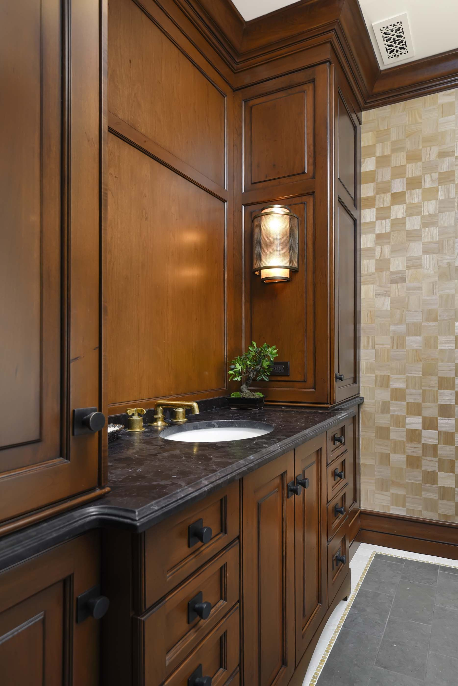 Dark Wood Paneling: Morgante Wilson Architects Used Wood Paneling And A Dark