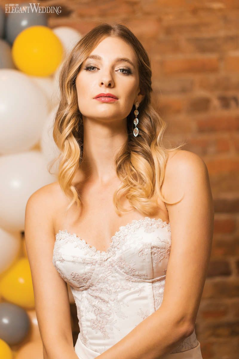 citrus bridal shower with balloons | wedding hair & makeup