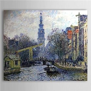 Famous Oil Painting Canal in Amsterdam by Claude Monet - See more at: http://www.homelava.com/en-famous-oil-painting-canal-in-amsterdam-by-claude-monet-nbsp-p20158.htm#sthash.t2cZ5ksy.dpuf
