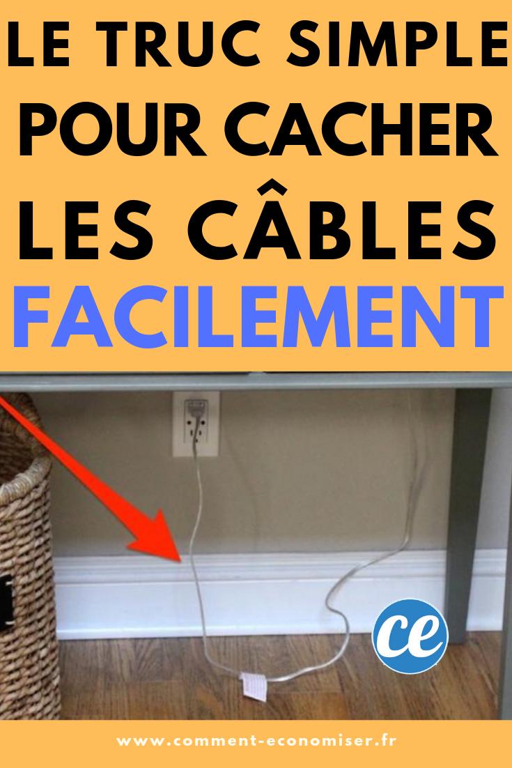 Comment Cacher Ses Cables 1 truc tout simple pour cacher les fils et les câbles