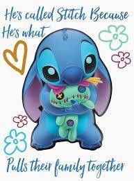 Stitch Means To Pull Together Lilo Means Lost Stitch Makes Lilo