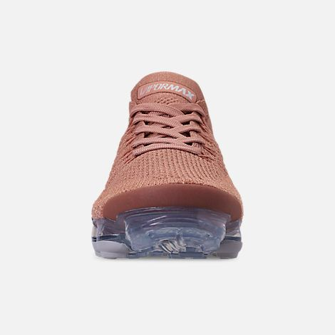 fd2599e5e9 Front view of Women's Nike Air VaporMax Flyknit 2 Running Shoes in Rose  Gold/Rose Gold/Bio Beige