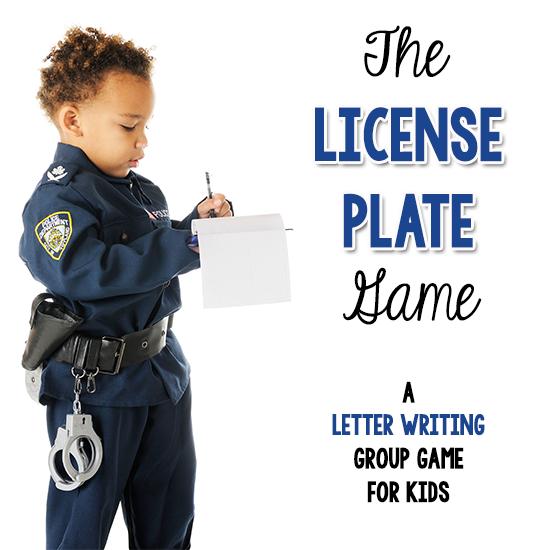 License Plate Game   Community Helpers Activities   Pre-K Preschool