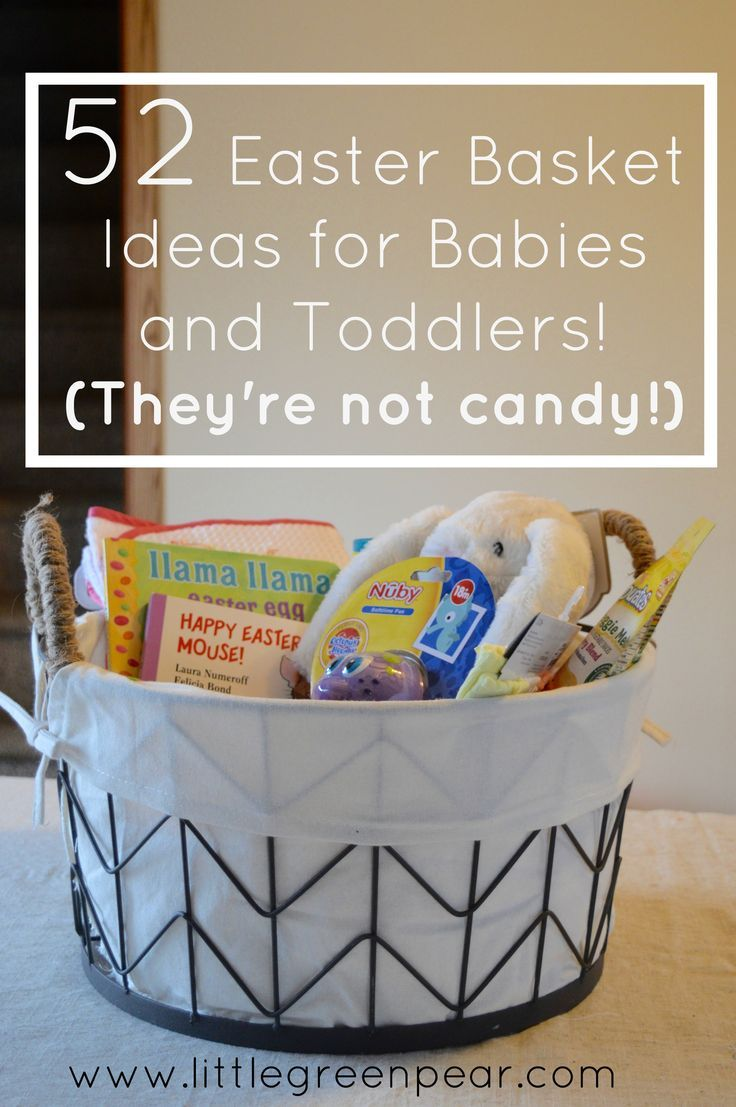52 non candy easter basket ideas for babies and toddlers basket easter basket ideas for babies and toddlers basket ideas easter baskets and easter negle Image collections