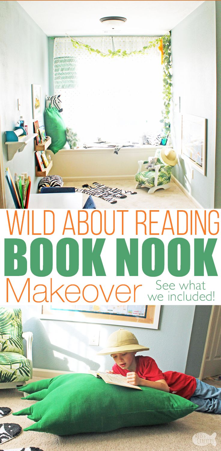 Get wild about reading with this gorgeous Jungle Book Nook Makeover ...