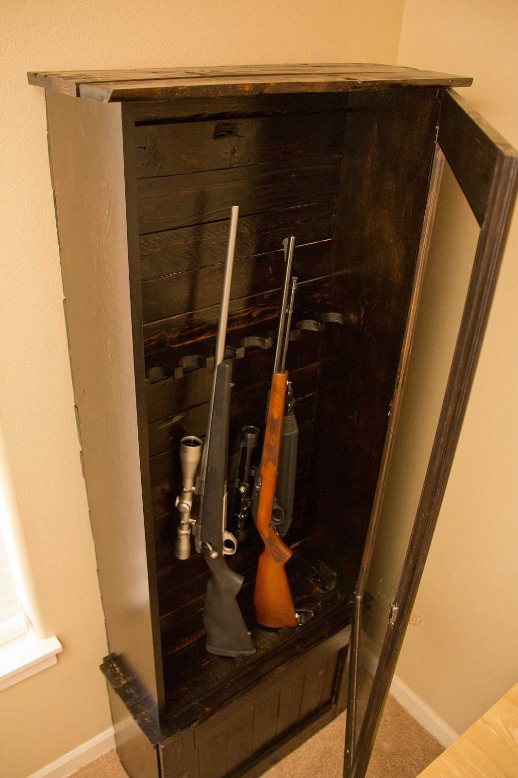 Gun Cabinet made from recycled pallets | diy | Pinterest | Pallets ...