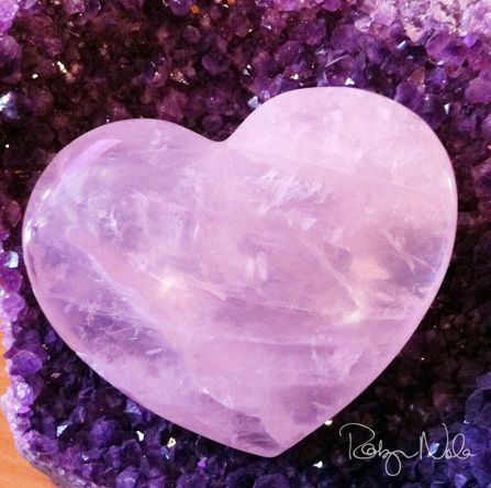 Rose Quartz has a loving, heart-healing energy. It is one of my fav's! ♥