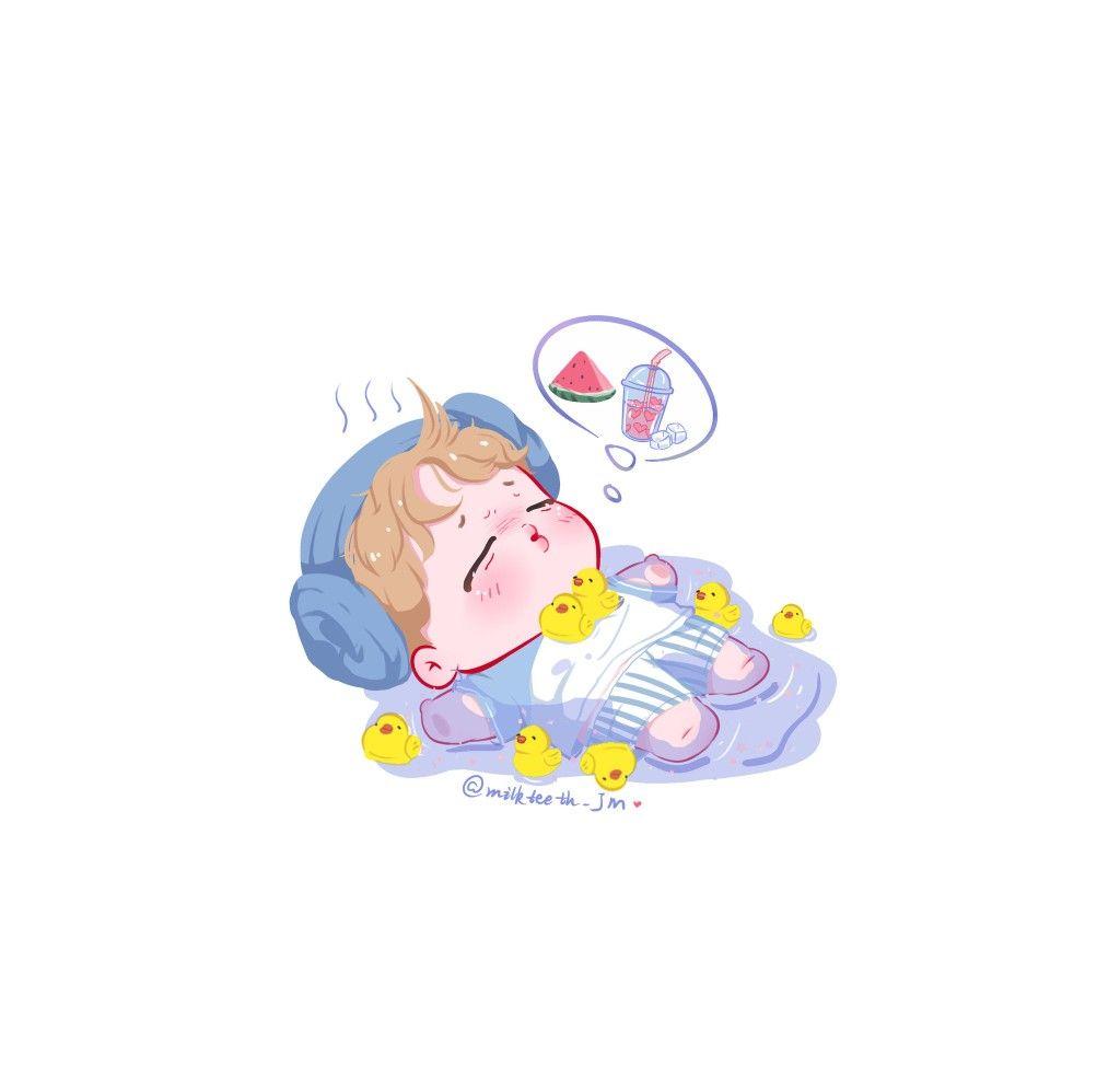 Pin Oleh Hi Hi Di Fanarts De Bts Bt21 Kartun Gambar Lucu Karakter Animasi