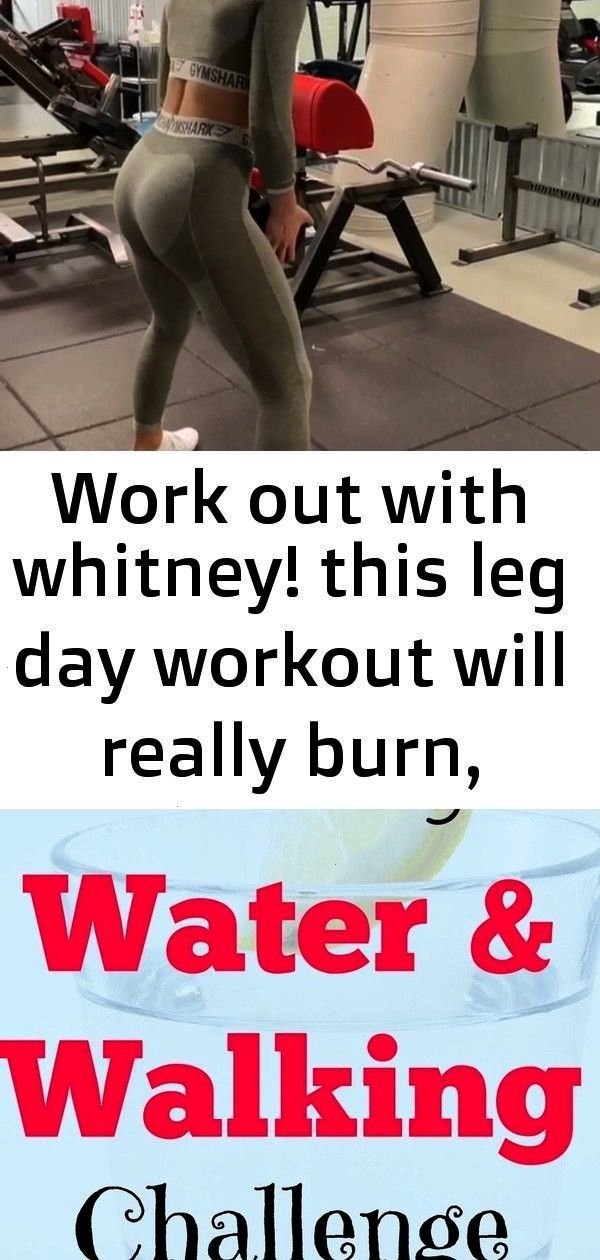 out with whitney! this leg day workout will really burn, there's a whole lot of time under tens Wor