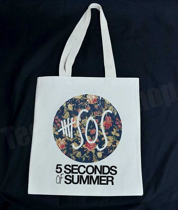 Floral Tote Bag In 2020 5 Seconds Of Summer Second Of Summer