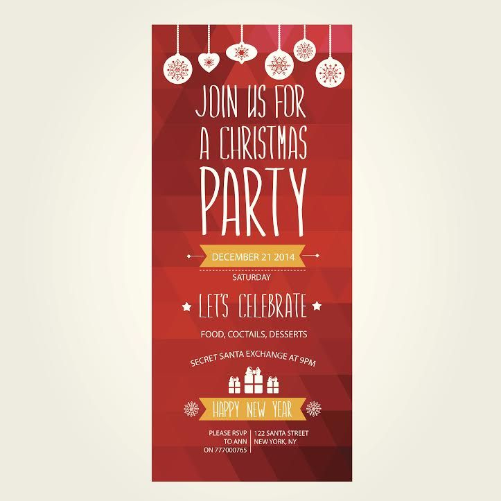 Professionally Printed Christmas Party Invitations for Your Office ...