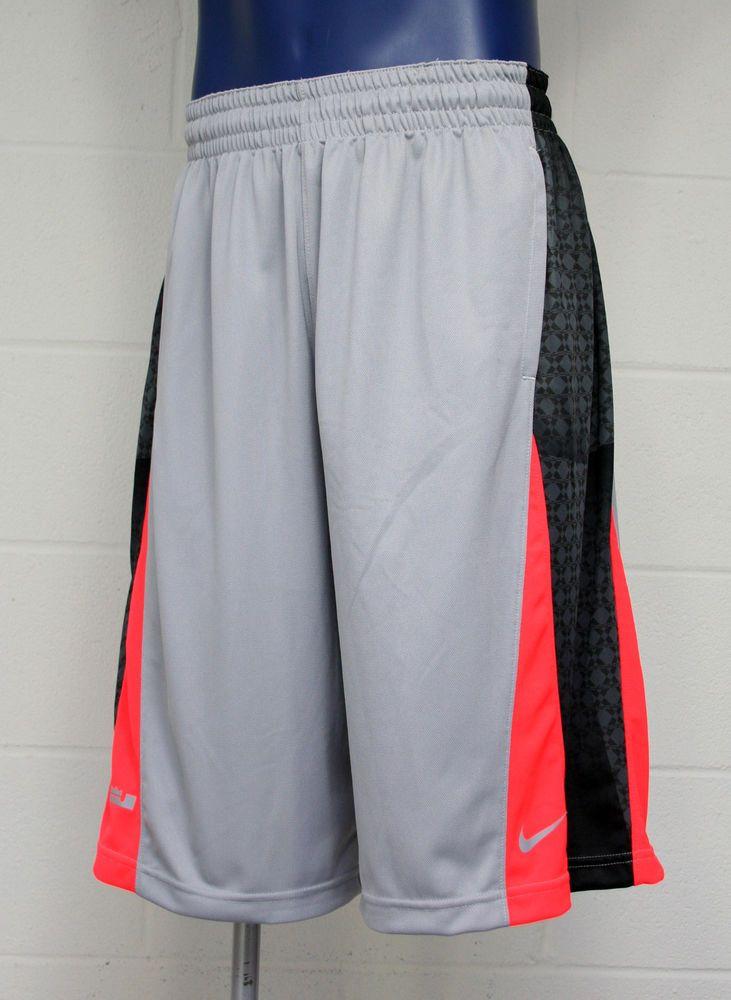 26f6c666f Nike LeBron James Gravity Half Print Men's Shorts Orange/Gray #532330-062 # Nike #Athletic