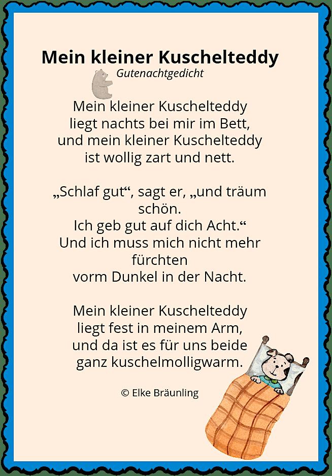 Mein kleiner Kuschelteddy | Geschichten für kinder ...