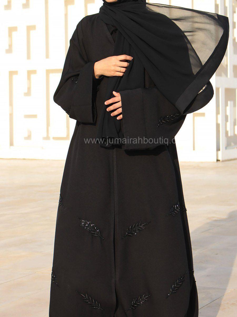 Floral Embroidery Handwork Abaya Muslim Fashion Outfits Fashion Abayas Fashion
