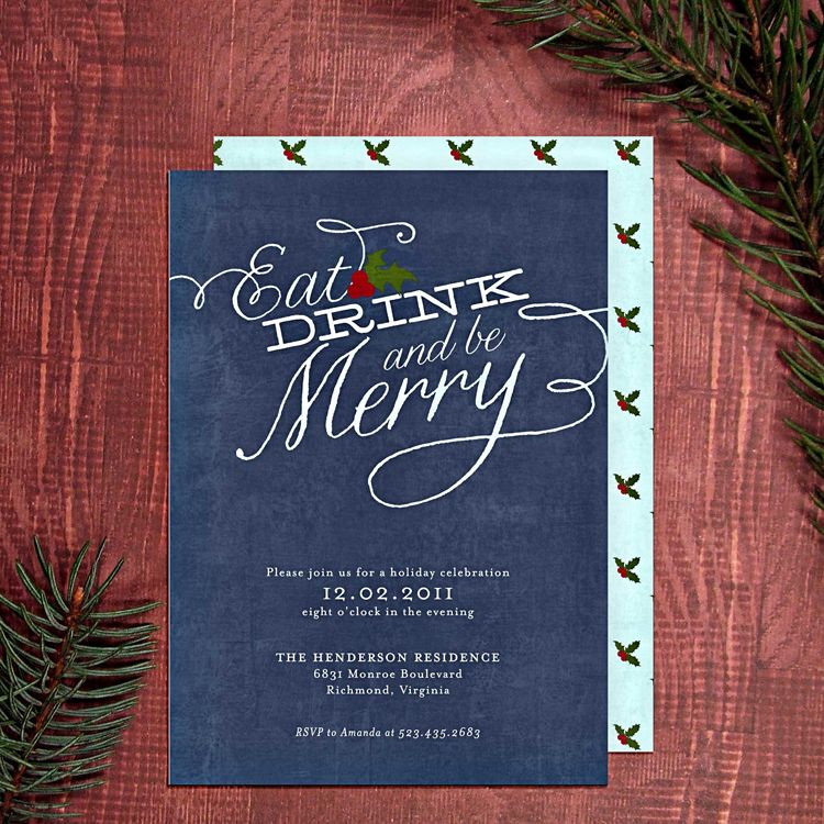 Printable Christmas Party Invitations Free Templates. | House ...