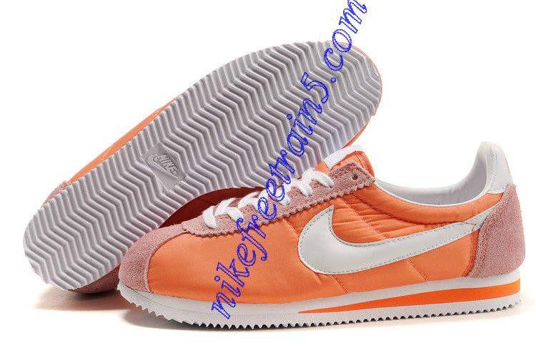 super popular b855d 53e5f Nike Classic Cortez Nylon Mens Orange White