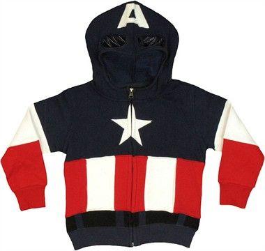 4a2c2c0f70df Captain America Costume Toddler Hoodie