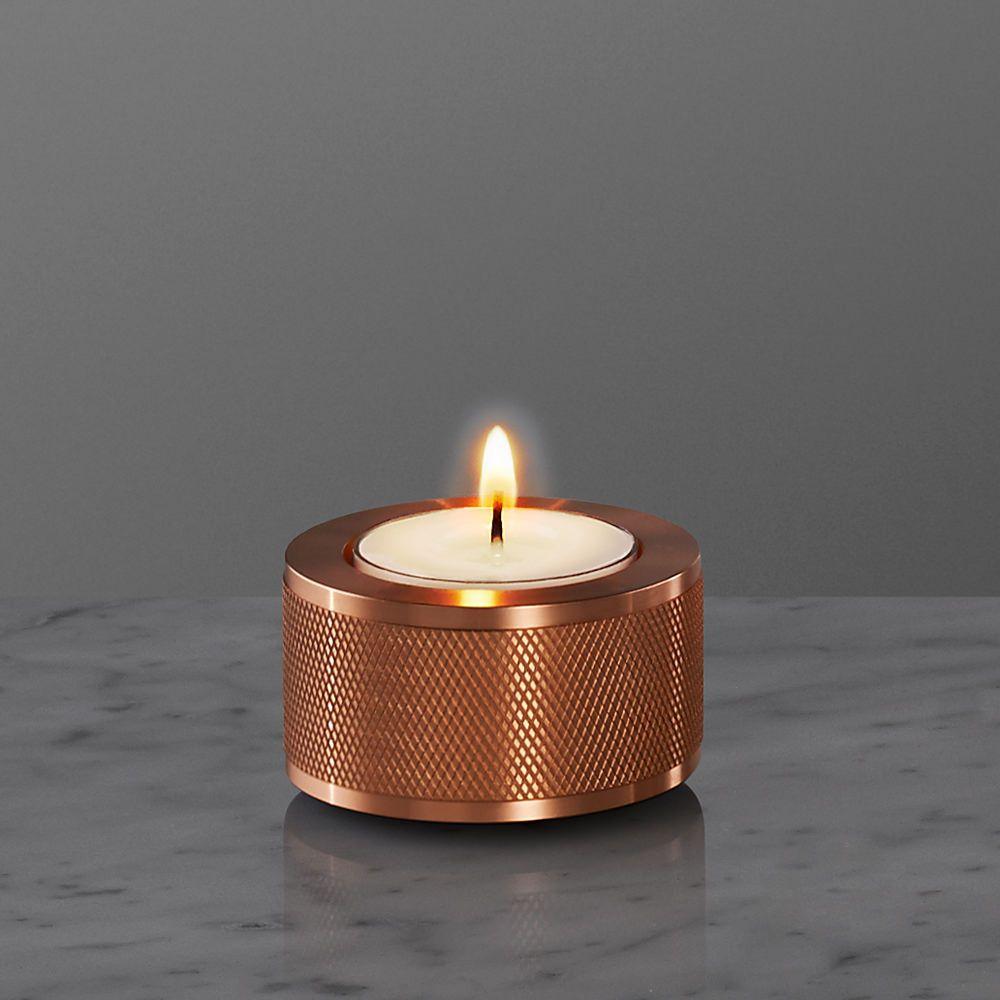 Elegant Copper Candle Holder