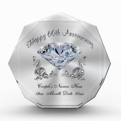 Personalized Diamond Anniversary Gift Ideas 60th Zazzle Com In 2020 60th Wedding Anniversary Gifts Diamond Wedding Anniversary Gifts Wedding Anniversary Gifts